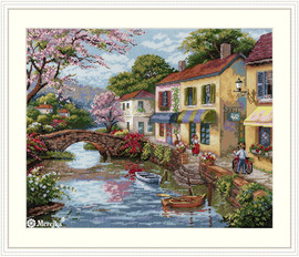 Quaint Village Shops Counted Cross Stitch Kit by Merejka