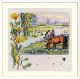 Horses Counted Cross Stitch Kit by Merejka