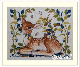 Little Fawn Counted Cross Stitch Kit by Merejka