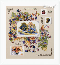 Autumn Sampler Counted Cross Stitch Kit By Merejka