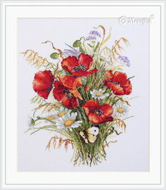 Poppies and Oats Counted Cross Stitch Kit By Merejka
