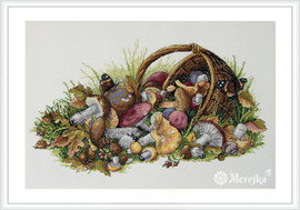 Mushrooms Counted Cross Stitch Kit By Merejka