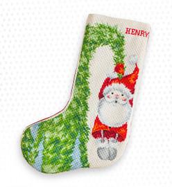 Santa Tree Christmas Stocking Making Kit Cross Stitch By Luca-S
