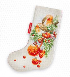 Robin Christmas Stocking Making Kit Cross Stitch Kit By Bothy Threads