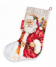 Father Christmas Stocking Making Kit Cross Stitch Kit By Luca-S