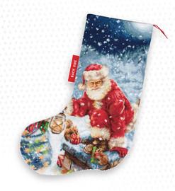 Santa Chimney Christmas Stocking Making Kit Cross Stitch Kit By Luca-S
