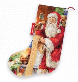 Santa's List Christmas Stocking Making Kit Cross Stitch kit By Luca-s