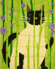 Suki The Cat Longstitch Kit By Design Works