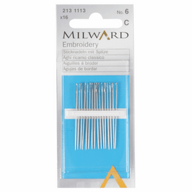 Hand Sewing Needles: Embroidery/Crewel: 16 Pieces by Milward