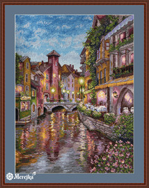 Le Riviera Counted Cross Stitch Kit by Merejka