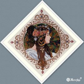 Brunette Counted Cross Stitch Kit by Merejka