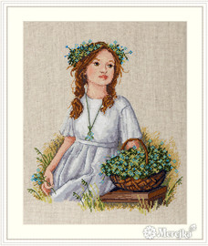 Forget-Me-Not Counted Cross Stitch Kit by Merejka