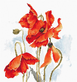 Poppies Counted Cross Stitch Kit by Luca-S