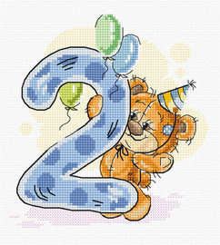 Second Birthday Counted Cross Stitch Kit by Luca-S