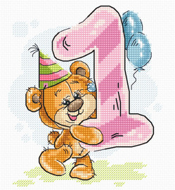 First Birthday Counted Cross Stitch Kit by Luca-S
