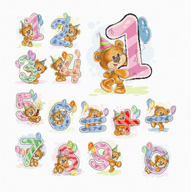 Teddy Numbers Counted Cross Stitch Kit by Luca-S