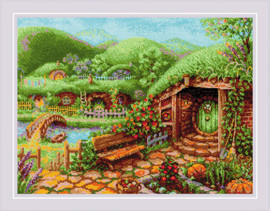 Green Hills Counted Cross Stitch Kit by Riolis