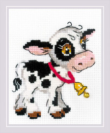Calf with a Bell Counted Cross Stitch Kit by Riolis