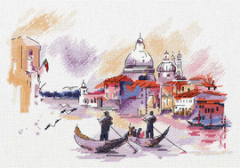 Travelling Around Venice Counted Cross Stitch Kit by Panna