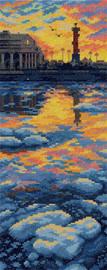 Ice Drift on Neva River Counted Cross Stitch Kit by Panna