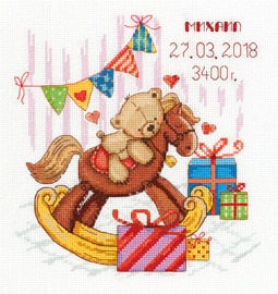 Gifts for You Sampler Counted Cross Stitch Kit by Panna