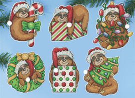 Sloth Christmas Tree Ornaments Kit by Design Works