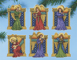 Medieval Angels Christmas Tree Ornaments Kit by Design Works