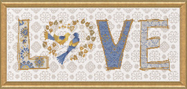 Love Counted Cross Stitch Kit by Design Works