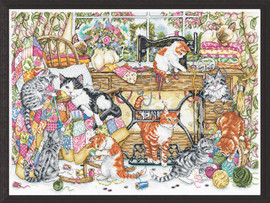 Sew Many Kittens Counted Cross Stitch Kit by Design Works