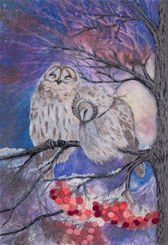 Gossip Owls Freestyle Embroidery Kit by Panna