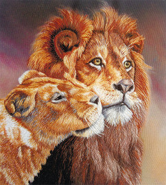 Lions Freestyle Embroidery Kit by Panna
