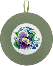 Pansies and Forget-Me-Nots Embroidery Kit By Panna