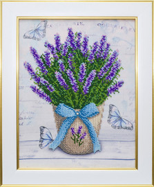 Lavender Beaded Embroidery Kit By VDV