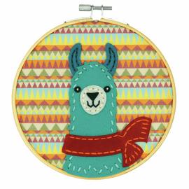 Felt Applique Kit with Hoop: Llama By Dimensions