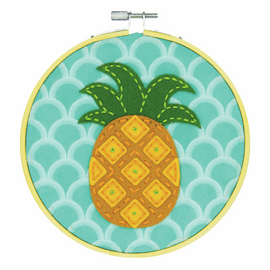 Felt Applique Kit with Hoop: Pineapple By Dimensions
