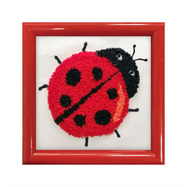 Ladybird punch needle kit by Needleart World
