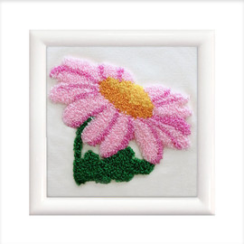 Pink daisy punch needle kits  by Needleart World
