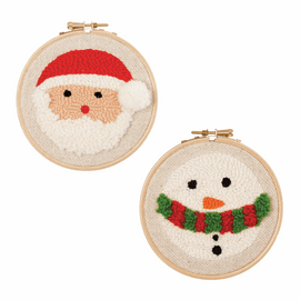 Santa & Snowman Punch Needle Kit by Anchor