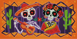 Day of the Dead Printed Cross Stitch Kit by Needleart World