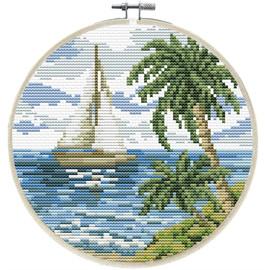 Sailing Away Printed Cross Stitch Kit by Needleart World