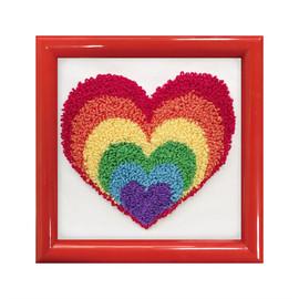 Rainbow Heart Punch Needle Kit by Needleart World