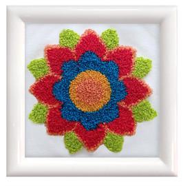 Flower Mandala Punch Needle Kit by Needleart World