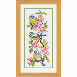 Counted Cross Stitch Kit: Birds on Blossoms