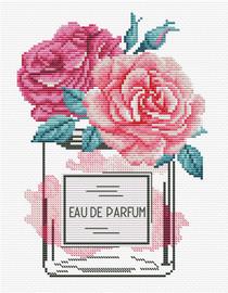 Rose Chic Printed Cross Stitch Kit by Needleart World