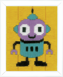 Robot Long Stitch Kit By Vervaco