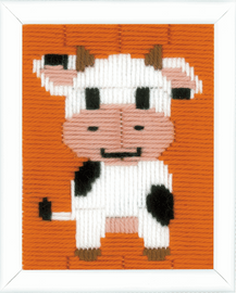 Cow Long Stitch Kit By Vervaco