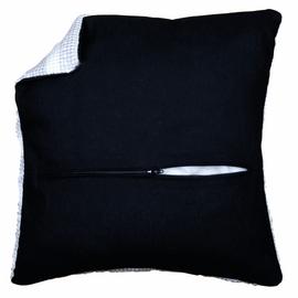 Cushion Back: with Zipper: Black  45 X 45 cm By Vervaco