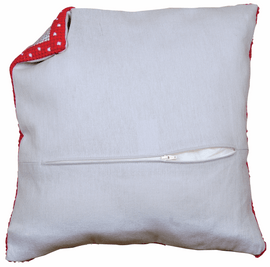 Cushion Back: with Zipper: Grey  45 X 45 cm By Vervaco