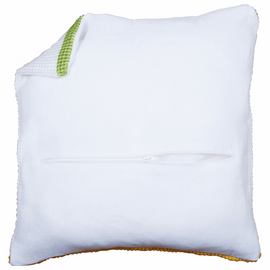 Cushion Back: with Zipper: White  45 X 45 cm By Vervaco