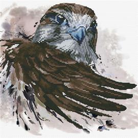 Falcon Salute Printed Cross Stitch Kit By Needleart World